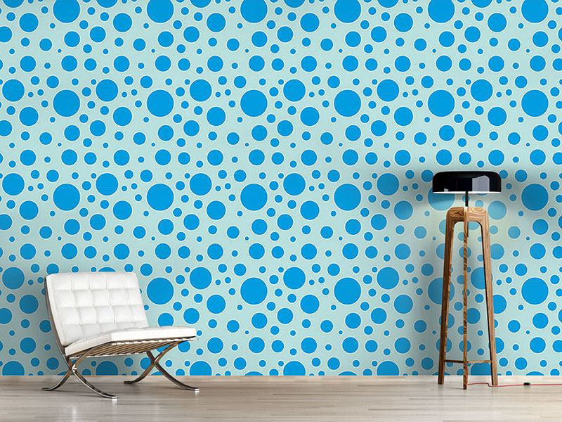 Papier peint design Blue Bubbles