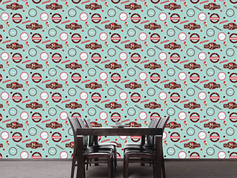 Papier peint design Yummy Mint