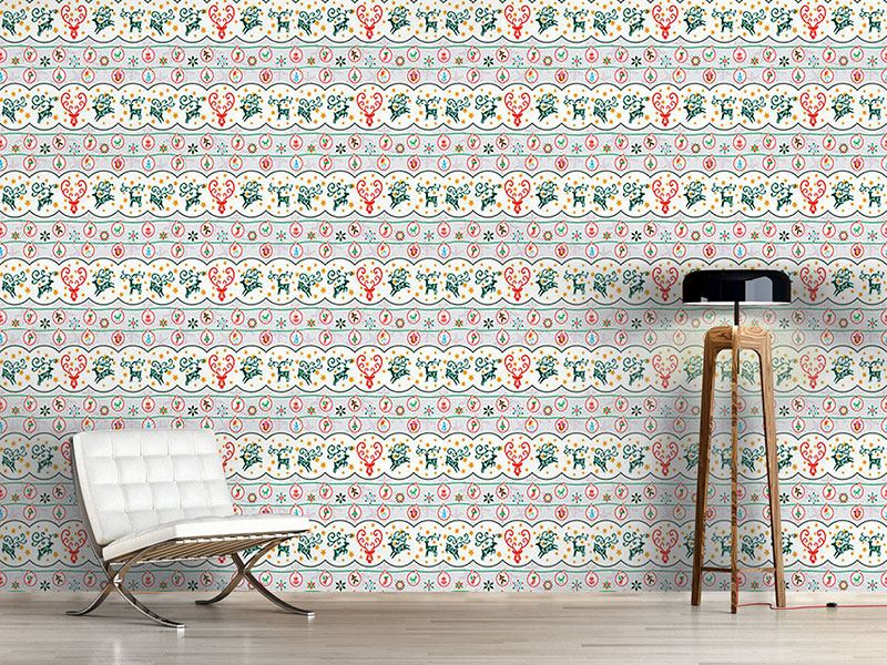 Papier peint design Merry Stag Night