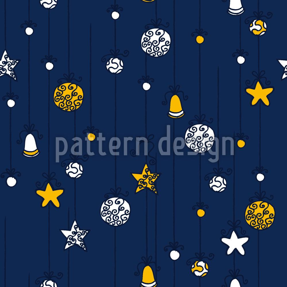 Papier peint design Christmas Decorations Blue