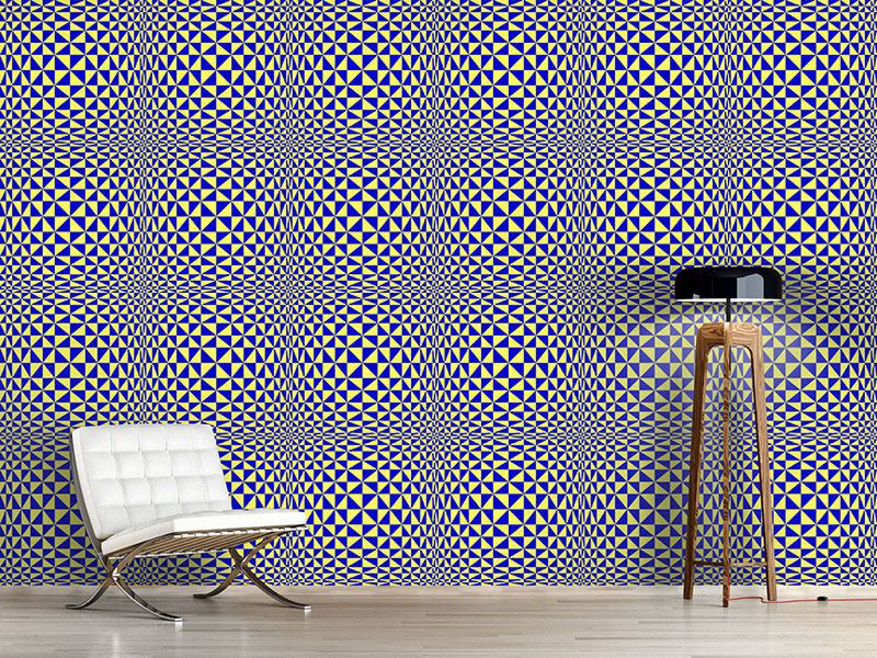 Papier peint design Triangular Geometric