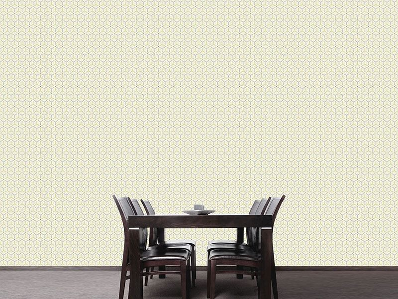 Pattern Wallpaper Maroc Yellow
