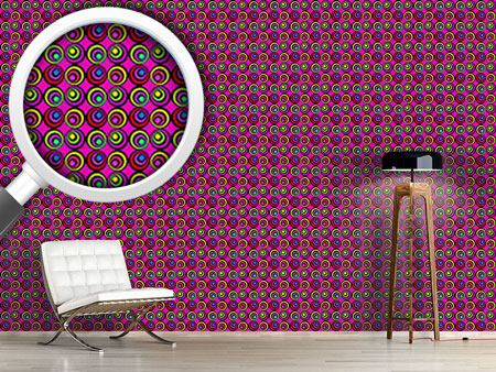 Pattern Wallpaper Psychedelic Pink