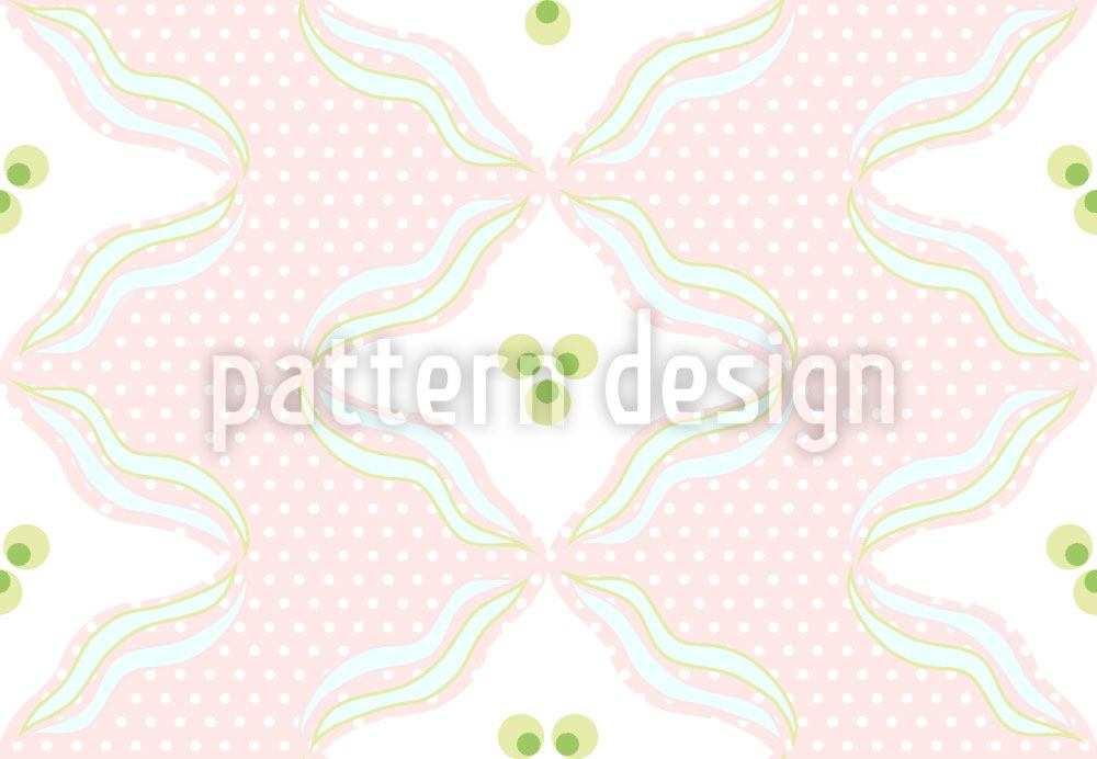 Pattern Wallpaper Polka Dots With Waves