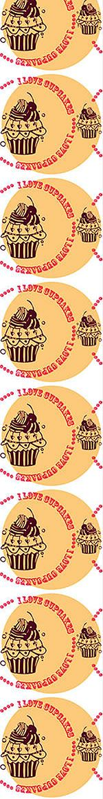 Papier peint design Cupcake Love Cream