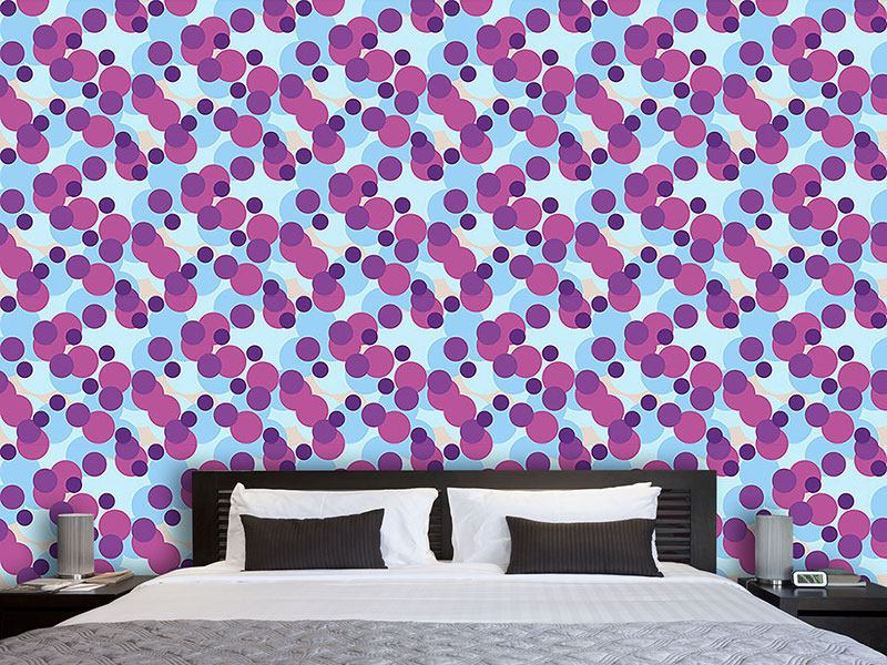 Pattern Wallpaper Circles From Provence