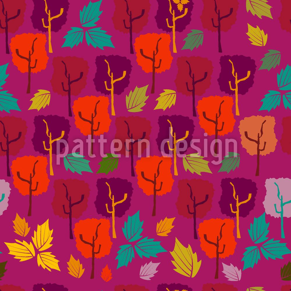 Papier peint design When The Leaves Fall