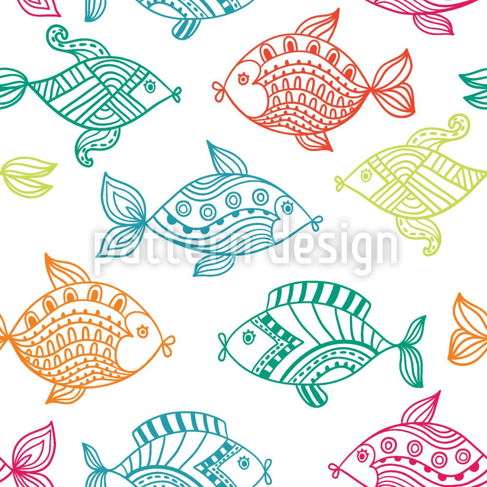 Papier peint design Fish In The Aquarium