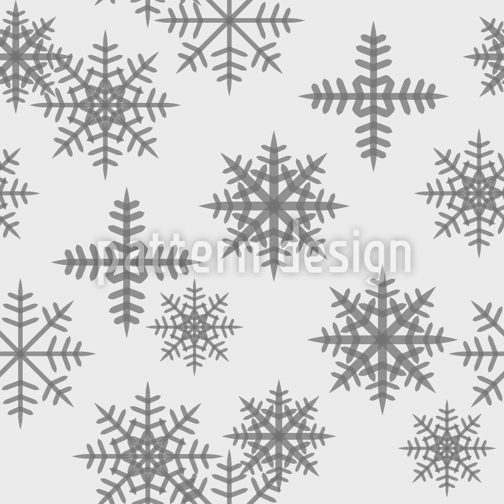 Pattern Wallpaper Crystals White