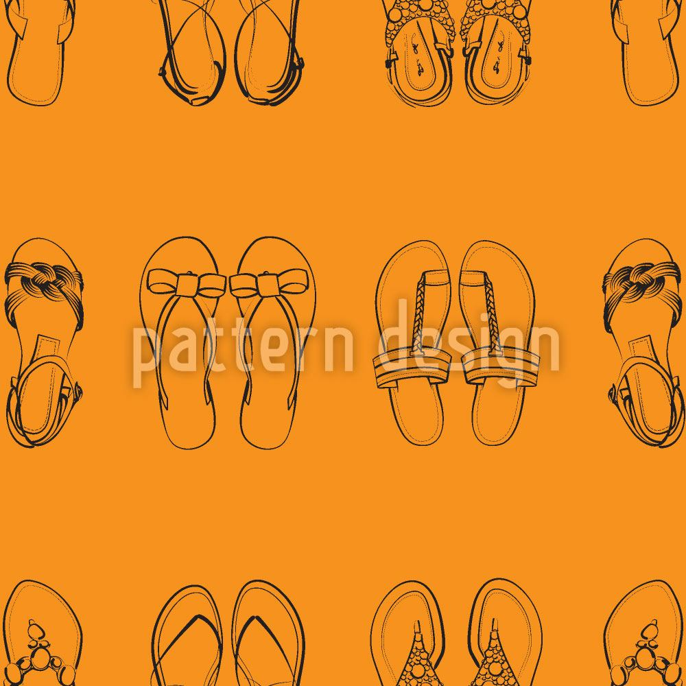 Pattern Wallpaper I Only Wear Sandals
