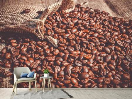 Photo Wallpaper Many coffee beans