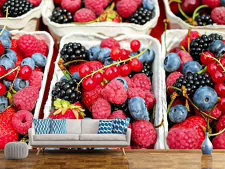 Photo Wallpaper Bowls with berries