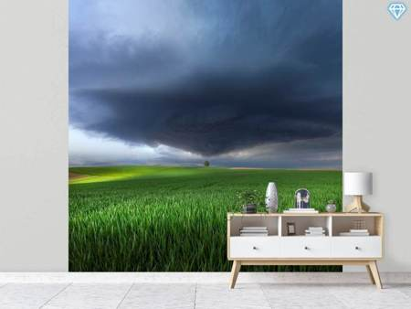 Photo Wallpaper Thunderstorm Cell Over The Alb Plateau