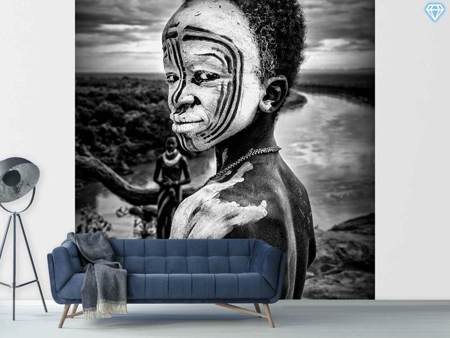Papier peint photo A Boy Of The Karo Tribe Omo Valley