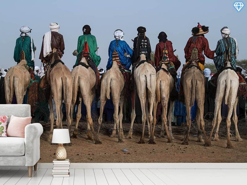 Fotomurale Watching The Gerewol Festival From The Camels - Niger