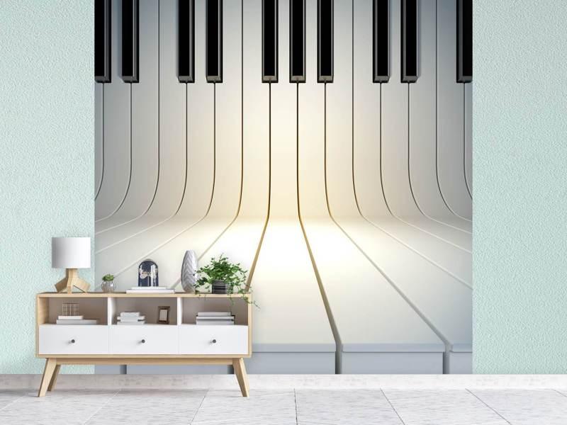 Photo Wallpaper Piano Keys