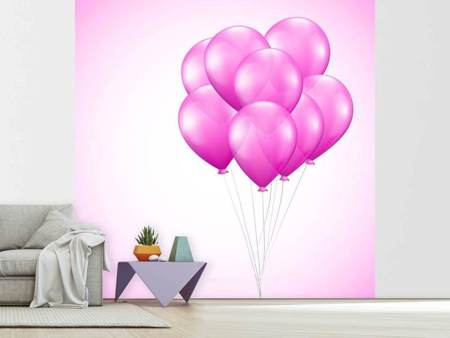 Papier peint photo Ballons roses