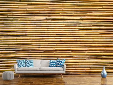 Photo Wallpaper Horizontal Bamboo Wall